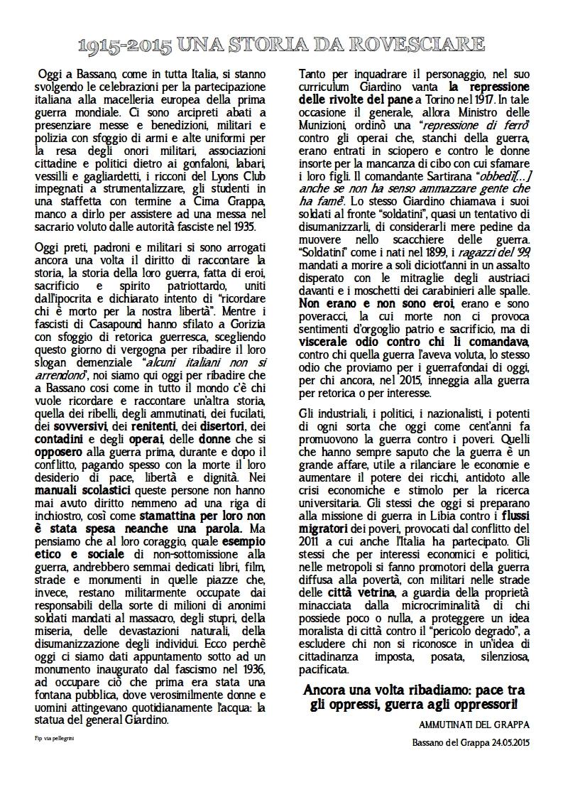 Bassano del Grappa 24 MAGGIO